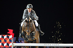 Ludger Beerbaum on Chaman competes during the AirbusTrophy at the Longines Masters of Hong Kong on 20 February 2016 at the Asia World Expo in Hong Kong, China. Photo by Victor Fraile / Power Sport Images