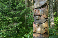 Totem in the Sitka National Historic Park, which preserves and interprets the site of a Tlingit Indian Fort and the battle fought between the Russians and the Tlingits in 1804.