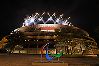Fireworks over the stadium / outside<br /> Olympic Stadium / Closing ceremony<br /> 2020 Tokyo Paralympic Games<br /> Paralympics Australia / Day 12<br /> Tokyo Japan :  Sunday 5 Sept  2021<br /> © Sport the library / Jeff Crow / PA
