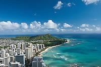 Aerial of Waikiki Beach and Diamond Heaad