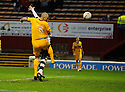 MOTHERWELL'S MICHAEL HIGDON SCORES MOTHERWELL'S GOAL ..17/12/2011 sct_jsp005_motherwell_v_st_mirren     .Copyright  Pic : James Stewart.James Stewart Photography 19 Carronlea Drive, Falkirk. FK2 8DN      Vat Reg No. 607 6932 25.Telephone      : +44 (0)1324 570291 .Mobile              : +44 (0)7721 416997.E-mail  :  jim@jspa.co.uk.If you require further information then contact Jim Stewart on any of the numbers above.........
