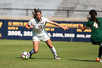 BERKELEY, CA - Sept 16th, 2016: Cal's (10) Arielle Ship dribbles the ball. Cal Women's Soccer played the University of San Francisco on Goldman Field at Edwards Stadium.