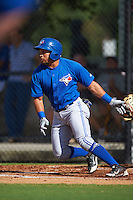 Toronto Blue Jays Antony Fuentes (4) during an instructional league game against the Philadelphia Phillies on October 3, 2015 at the Carpenter Complex in Clearwater, Florida.  (Mike Janes/Four Seam Images)