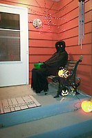 An eerie creature to greet the trick-or-treaters on Halloween.