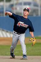 Matt Dominguez of Chatsworth High School during a winter league game against Simi Valley High School at Chatsworth High School on February 10, 2007 in Chatsworth, California. (Larry Goren/Four Seam Images)