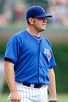 August 9, 2009:  Pitcher Greg Reinhard of the Iowa Cubs during a game at Wrigley Field in Chicago, IL.  Iowa is the Pacific Coast League Triple-A affiliate of the Chicago Cubs.  Photo By Mike Janes/Four Seam Images