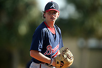 Pitcher Peyton Glavine (18) during the WWBA World Championship at the Roger Dean Complex on October 21, 2016 in Jupiter, Florida. (Greg Wagner/Four Seam Images)
