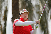 Shanshan FENG (CHN) during round four of the 2014 Omega Dubai Ladies Masters being played over the Majlis Course, Emirates Golf Club, Dubai from 10th to 13th December 2014: Picture Stuart Adams, www.golftourimages.com: 13-Dec-14