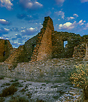 Dawn, Ruins, Pueblo Bonito, Chaco Culture National Historical Park, New Mexico