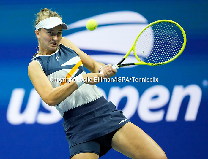 L - September  7, 2021:   Barbora Krejcikova (CZE) loses to Aryna Sabalenka (BLR),6-1, 6-4 at the US Open being played at Billy Jean King Ntional Tennis Center in Flushing, Queens, New York, {USA} ©Jo Becktold/Tennisclix/CSM