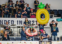 WASHINGTON, DC - NOVEMBER 16: George Washington fans in the student section during a game between Morgan State University and George Washington University at The Smith Center on November 16, 2019 in Washington, DC.