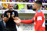 Luciano Spalletti coach of SSC Napoli reacts in front of Lorenzo Insigneduring the Serie A 2021/2022 football match between ACF Fiorentina and SSC Napoli at Artemio Franchi stadium in Florence (Italy), October 3rd, 2021. Photo Andrea Staccioli / Insidefoto