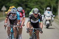 Belgians Oliver Naesen (BEL/AG2R-La Mondiale) & Serge Pauwels (BEL/Dimension Data) up front, leading the race<br /> <br /> Stage 6: Le parc des oiseaux/Villars-Les-Dombes › La Motte-Servolex (147km)<br /> 69th Critérium du Dauphiné 2017