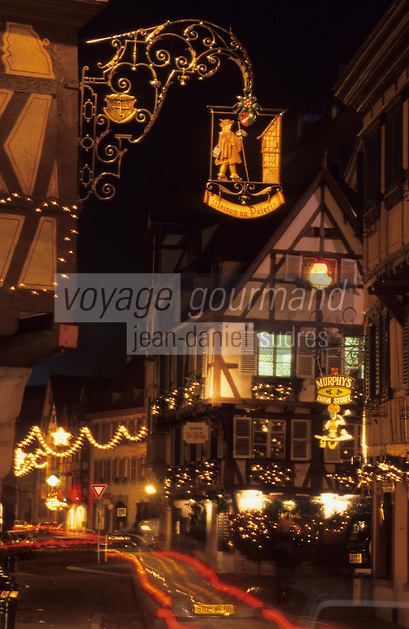 Europe/France/Alsace/68/Haut-Rhin/Colmar:la Grand Rue à Noël