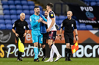 Bolton Wanderers'  goalkeeper/coachMatthew Gilks celebrates with team mate Gethin Jones at the end of the match<br /> <br /> Photographer Andrew Kearns/CameraSport<br /> <br /> The EFL Sky Bet League Two - Bolton Wanderers v Salford City - Friday 13th November 2020 - University of Bolton Stadium - Bolton<br /> <br /> World Copyright © 2020 CameraSport. All rights reserved. 43 Linden Ave. Countesthorpe. Leicester. England. LE8 5PG - Tel: +44 (0) 116 277 4147 - admin@camerasport.com - www.camerasport.com