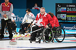 Dennis Thiessen, PyeongChang 2018 - Wheelchair Curling // Curling en fauteuil roulant.<br /> Canada plays Sweden in Wheelchair curling // Le Canada affronte la Suède au curling en fauteuil roulant.<br /> 11/03/2018.
