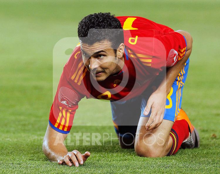 Spain's Pedro Rodriguez during Friendly match.June, 8, 2010. (ALTERPHOTOS/Acero)