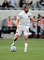 Rodolfo Pizarro #10 of Inter Miami CF moves with the ball