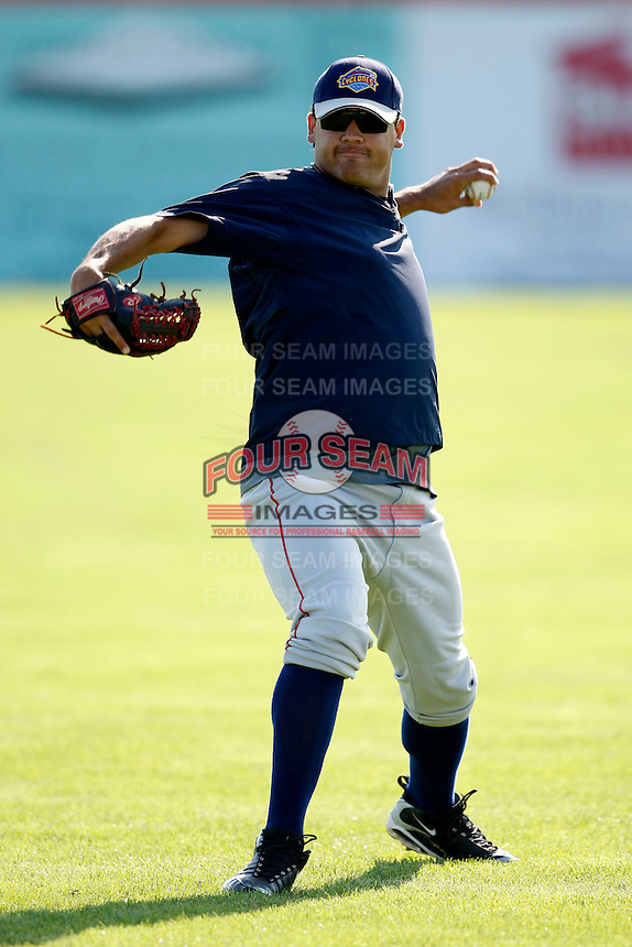 August 6, 2009:  Pitcher Matias Carrillo of the Brooklyn Cyclones during a game at Dwyer Stadium in Batavia, NY.  The Cyclones are the Short-Season Class-A affiliate of the New York Mets.  Photo By Mike Janes/Four Seam Images