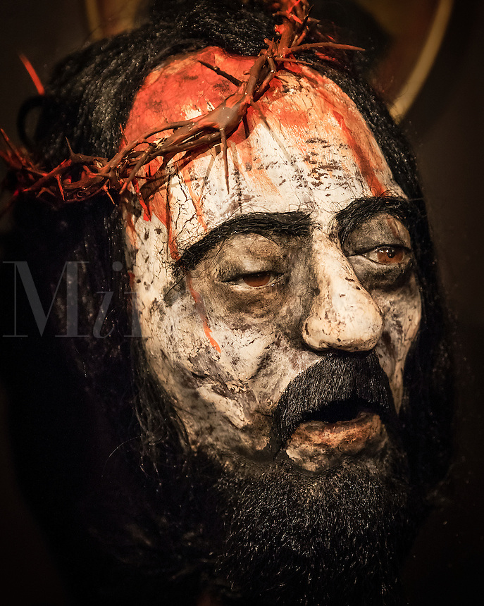 The Passion of Christ figure with crown of thorns.