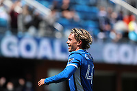 SAN JOSE, CA - APRIL 24: Cade Cowell #44 of the San Jose Earthquakes scores a goal and celebrates during a game between FC Dallas and San Jose Earthquakes at PayPal Stadium on April 24, 2021 in San Jose, California.
