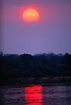 Sunset over river, Zambezi River, Zimbabwe