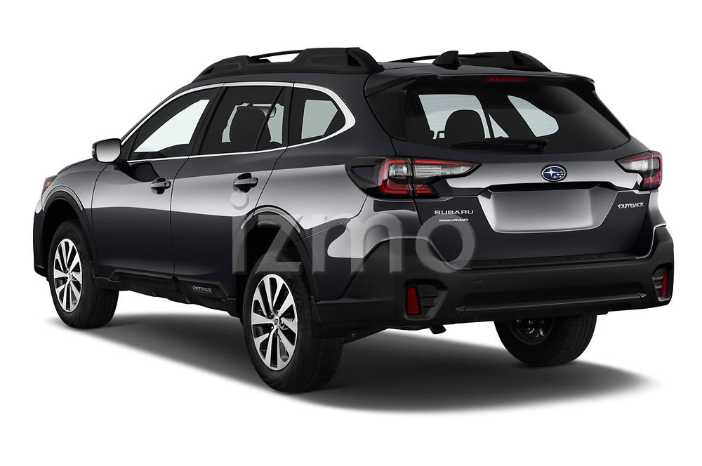 Car pictures of rear three quarter view of 2020 Subaru Outback Premium 5 Door Wagon Angular Rear