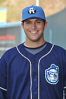 Mark Tracy #40 of the Asheville Tourists poses during media day at McCormick Field on April 4, 2011 in Asheville, North Carolina.  Photo by Tony Farlow / Four Seam Images..