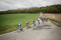 peloton bombing the local circuit<br /> <br /> 83rd La Flèche Wallonne 2019 (1.UWT)<br /> One day race from Ans to Mur de Huy (BEL/195km)<br /> <br /> ©kramon