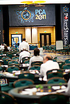 A view of the tournament area prior to the start of Day 1B