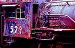 Classic train photo. Steam engine rusting away on siding in Snoqualmie, Washington, near Seattle.