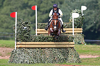 4th September 2021; Bicton Park, East Budleigh Salterton, Budleigh Salterton, United Kingdom: Bicton CCI 5* Equestrian Event; Sam Griffiths riding Gurtera Cher jumps clear of fence 5B,
