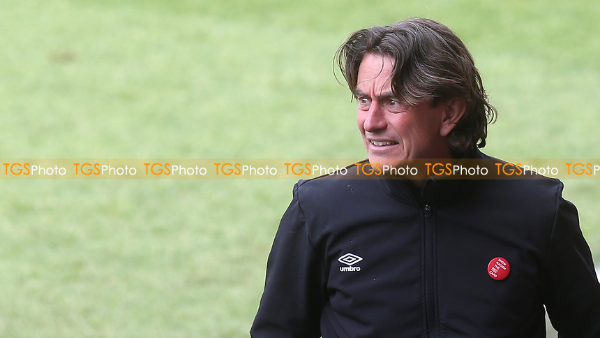 Brentford Manager, Thomas Frank during Brentford vs Watford, Sky Bet EFL Championship Football at the Brentford Community Stadium on 1st May 2021
