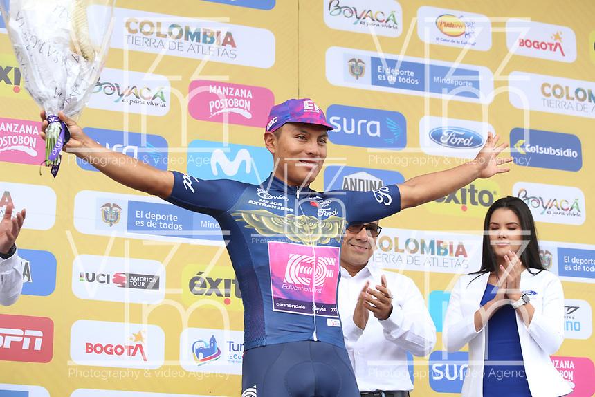 TUNJA - COLOMBIA, 15-02-2020: Jonathan Caicedo (ECU), TEAM INEOS, mejor extranjero después de la quinta etapa del Tour Colombia 2.1 2020 con un recorrido de 180,5 km que se corrió entre Paipa, Boyacá, y Zipaquirá, Cundinamarca. / Jonathan Caicedo (ECU), TEAM INEOS, best foreing after the fifth stage of 180,5 km as part of Tour Colombia 2.1 2020 that ran between Paipa, Boyaca, y Zipaquirá, Cundinamarca.  Photo: VizzorImage / Darlin Bejarano / Cont