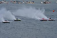 "Mike Monahan, GP-35 ""TM Special"", Bert Dulude, GP-48 ""Zero Gravity"" , Marc Theoret/Ghislain Marcoux, GP-444 ""GP Valleyfield"", Bert Henderson, GP-777 ""EMS Steeler"" (Grand Prix Hydroplane(s)"