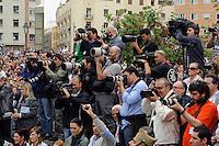 Presse bei der Semana Santa in Malaga, Andalusien, Spanien