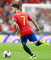 Spain's David Villa during FIFA World Cup 2018 Qualifying Round match. September 2,2017.(ALTERPHOTOS/Acero)
