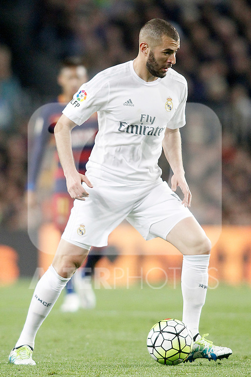 Real Madrid's Karim Benzema during La Liga match. April 2,2016. (ALTERPHOTOS/Acero)