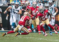 Charlotte, NC - September 18, 2016: The Carolina Panthers play the San Francisco 49ers at Bank of America Stadium.