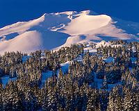 Morning light on Bachelor Butte in the Cascade Range; Deschutes National Forest, OR