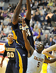 13 December 2008: Chris Gadley of Canisius grabs a rebound in a game between Canisius and Albany won by Albany 74-46 at SEFCU Arena in Albany, New York.