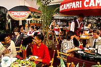 Couple enjoying lunch at an Italian restaurant