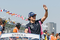 March 17, 2019: Lance Stroll (CAN) #18 from the Racing Point F1 Team waves to the crowd during the drivers parade prior to the start of the 2019 Australian Formula One Grand Prix at Albert Park, Melbourne, Australia. Photo Sydney Low
