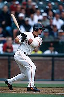 SAN FRANCISCO, CA -Armando Rios of the San Francisco Giants bats during a game at Pacific Bell Park in San Francisco, California in 2000. Photo by Brad Mangin