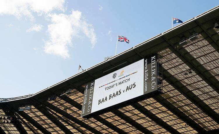 The Killik Cup match between Barbarians and Australia at Twickenham Stadium on Saturday 1st November 2014 (Photo by Rob Munro)