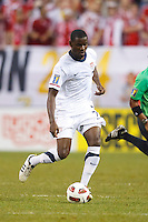 7 June 2011: USA Men's National Team midfielder Maurice Edu (7) dribbles the ball during the CONCACAF soccer match between USA and Canada at Ford Field Detroit, Michigan. USA won 2-0.