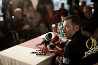 Vincenzo Nibali (ITA/Astana) during his press conference on the last restday in the Astana team hotel<br /> <br /> 99th Giro d'Italia 2016