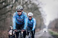 Wout Van Aert (BEL/Veranda's Willems-Crelan)   during recon of the 116th Paris - Roubaix 2018 on the pavé d'Arenberg, Wallers