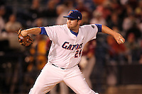 """Florida Gators Alex Panteliodis #24 during a game vs. the Florida State Seminoles in the """"Florida Four"""" at George M. Steinbrenner Field in Tampa, Florida;  March 1, 2011.  Florida State defeated Florida 5-3.  Photo By Mike Janes/Four Seam Images"""