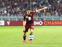 TORINO ITALY- October 2 <br /> Stadio Olimpico Grande Torino<br /> Josip Brekalo sho on goal<br /> during the Serie A match between Fc  Torino and Juventus Fc at Stadio Olimpico on October 2, 2021 in Torino, Italy.
